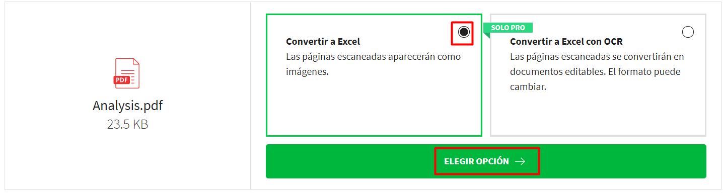 Convertir a Excel